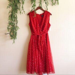 Red + White Star Dress Sz 16 🇺🇸